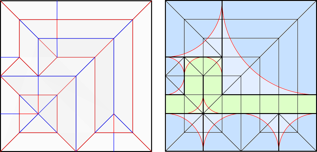 Crease pattern and polygons