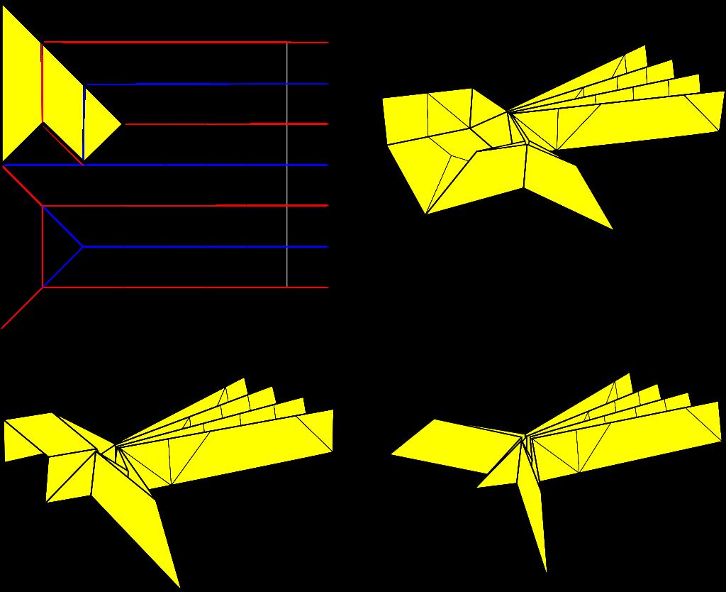 Elias stretch - Collapsing procedure for more complex ridge crease