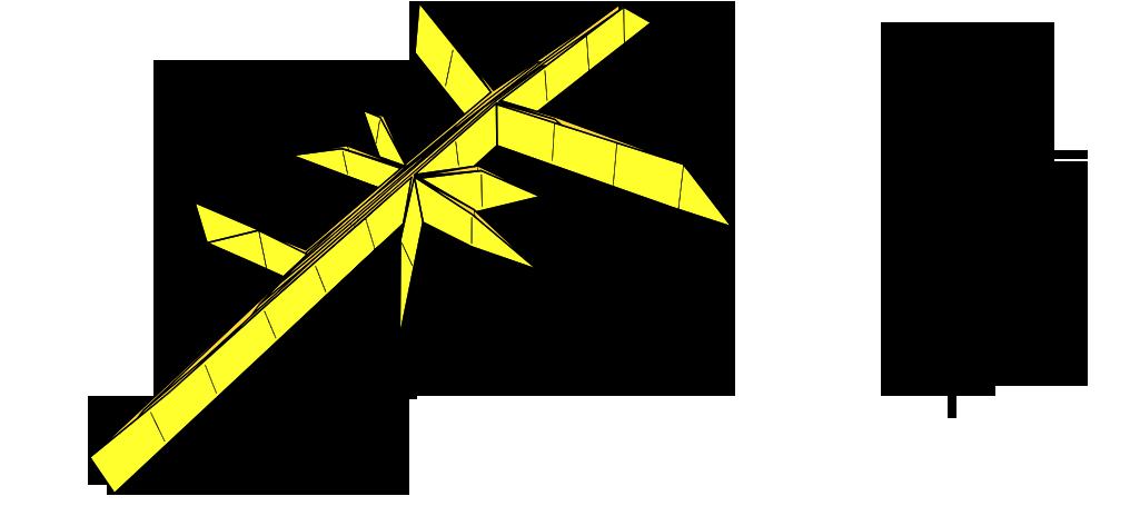 Abrashi Origami stick figure