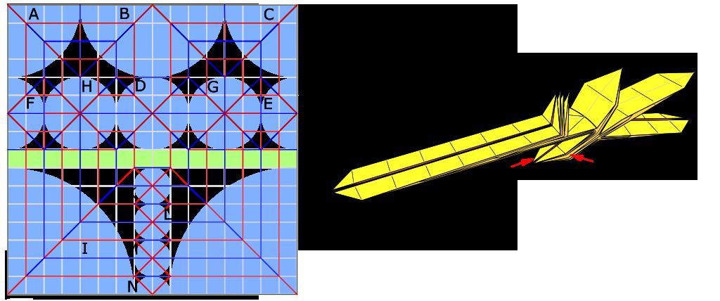 Abrashi Origami central fold