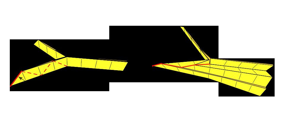 Ridge crease illustration.