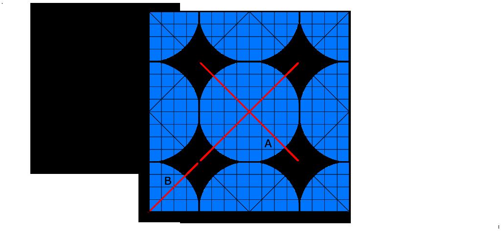 Ridge crease on a crease pattern.