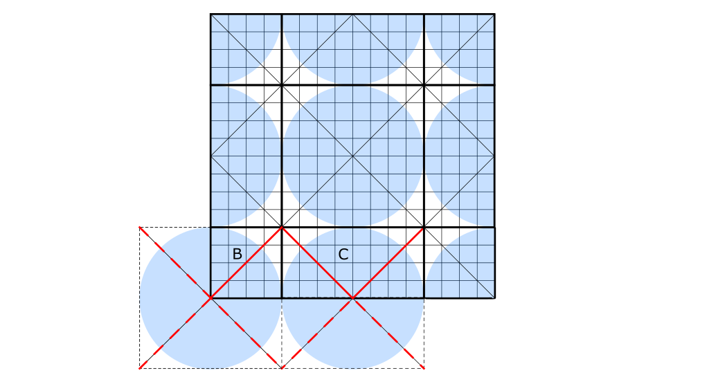 Ridge crease definition on a crease pattern.