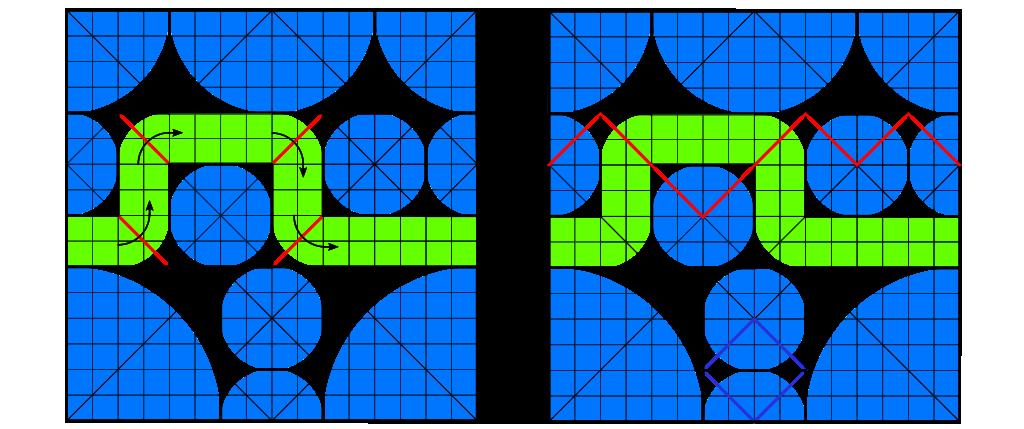 Ridge crease and origami river
