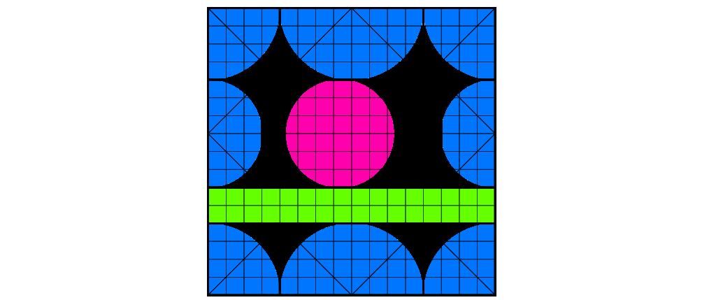 Horizontal ridge crease (case 1)