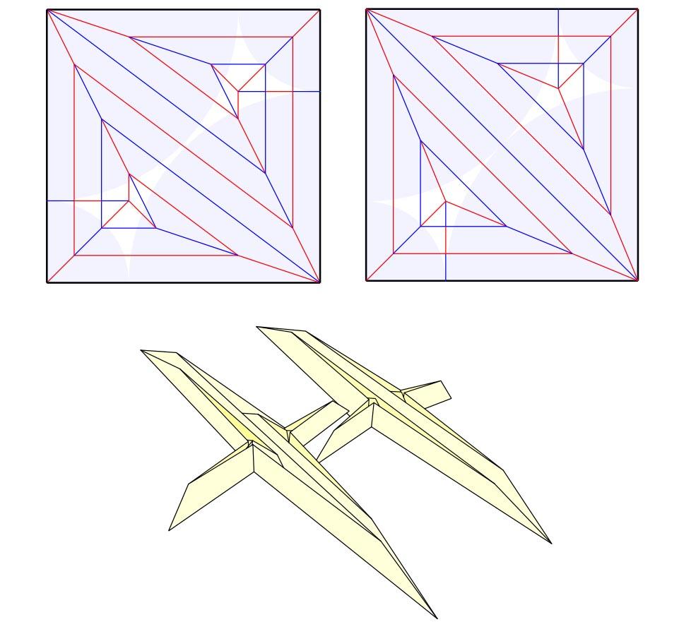 Box pleating vs. Circle packing