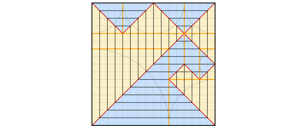 Crease pattern and all axial creases.