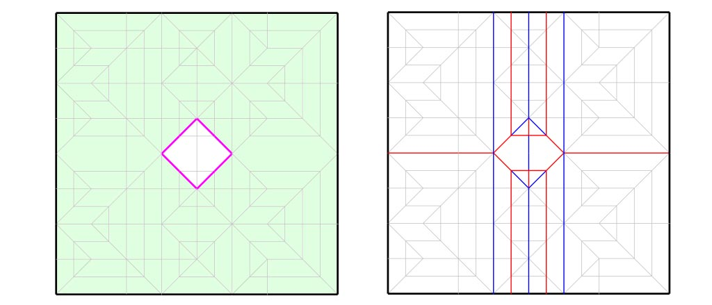 A simplified crease pattern