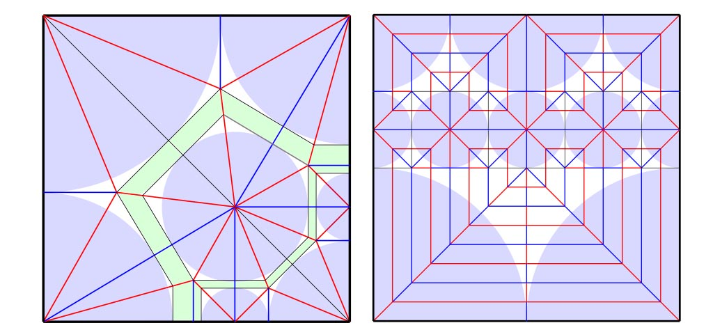 Crease patterns with polygons