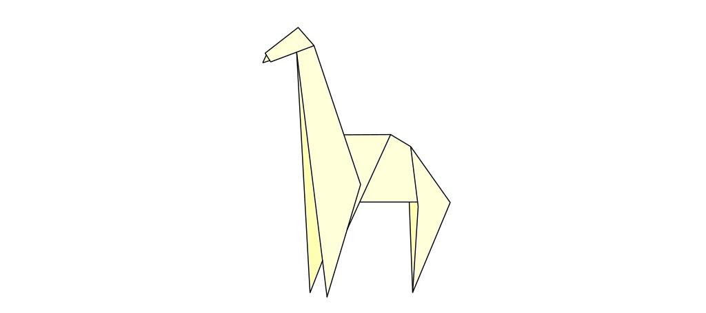 Traditional origami giraffe
