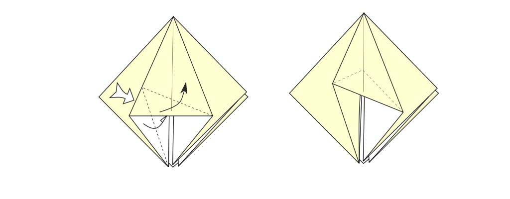 Close or inside swivel fold