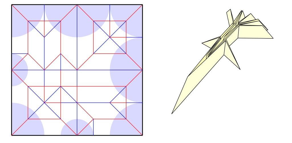 Box pleated uniaxial base