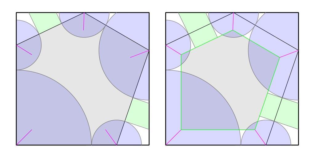 Universal molecule construction - polygon reduction