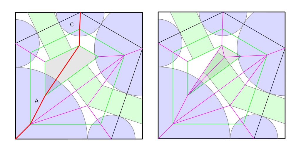 Universal molecule - Polygon reduction