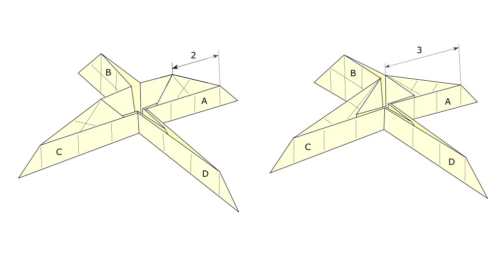 Origami Level shifters