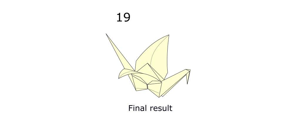 Traditional origami crane (S11)