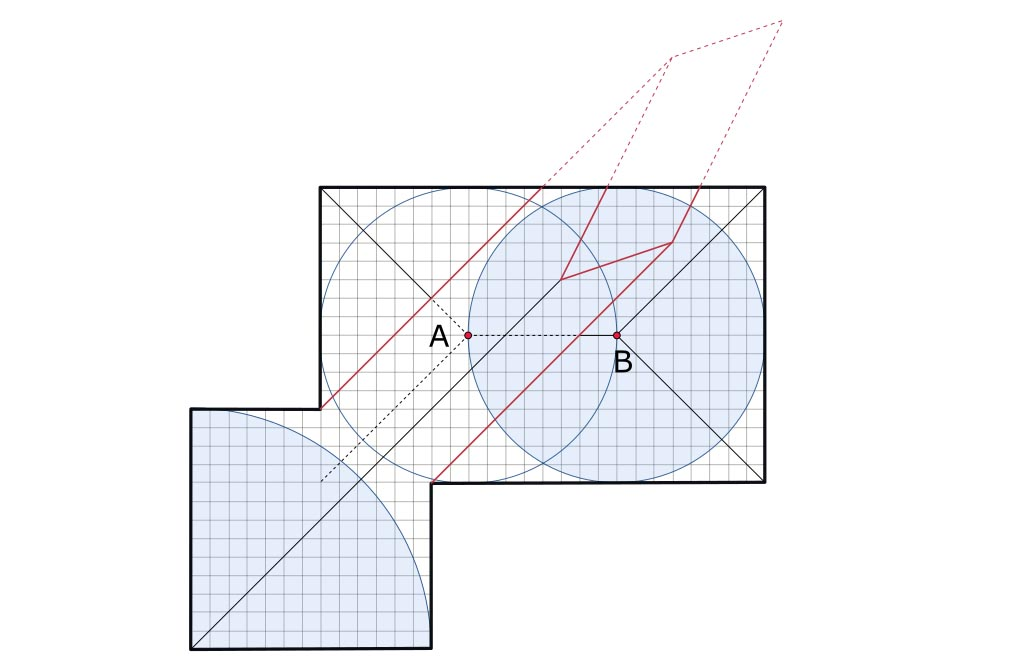 Origami Pythagorean stretch explained