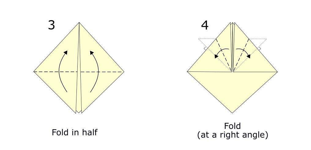 Origami Samurai helmet diagram (S2)