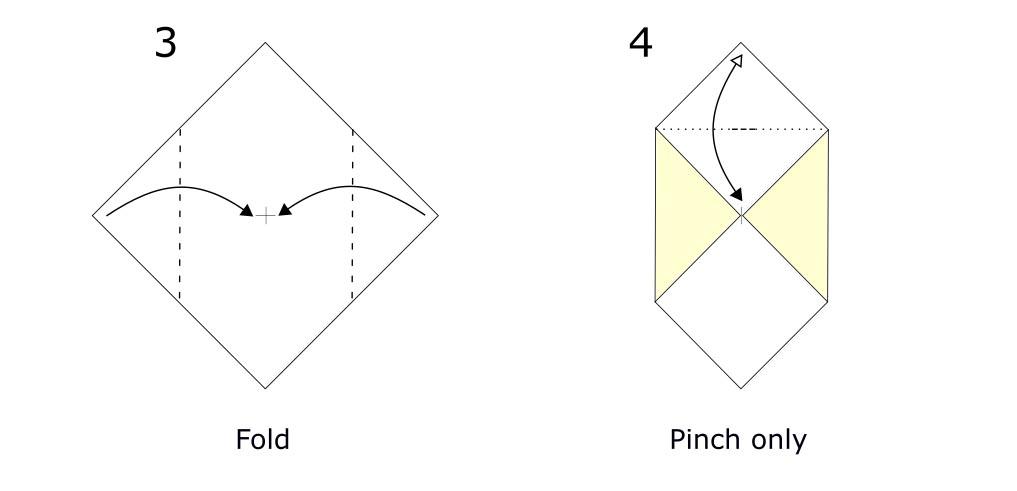 Origami envelope diagram (S2)