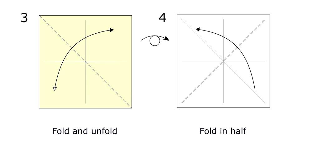 Traditional origami crane diagram (S2)
