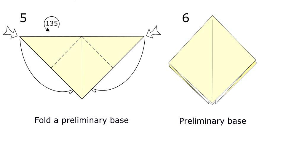 Traditional origami crane diagram (S3)