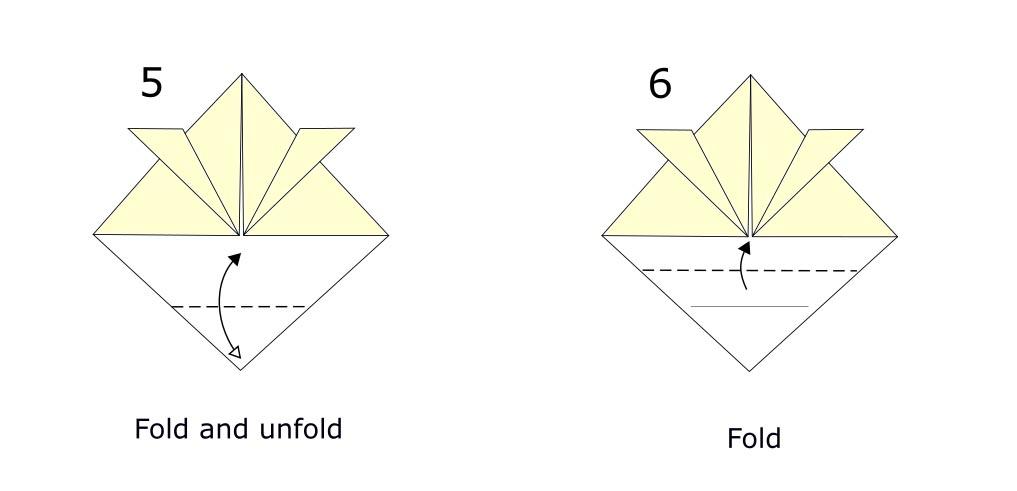 Origami Samurai helmet diagram (S3)