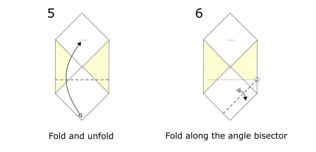 Origami envelope diagram (S3)