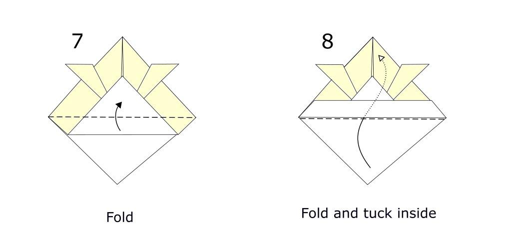 Origami Samurai helmet diagram (S4)