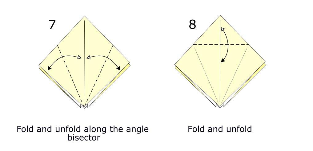 Traditional origami crane diagram (S4)