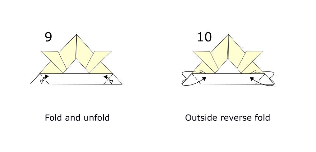 Origami Samurai helmet diagram (S5)