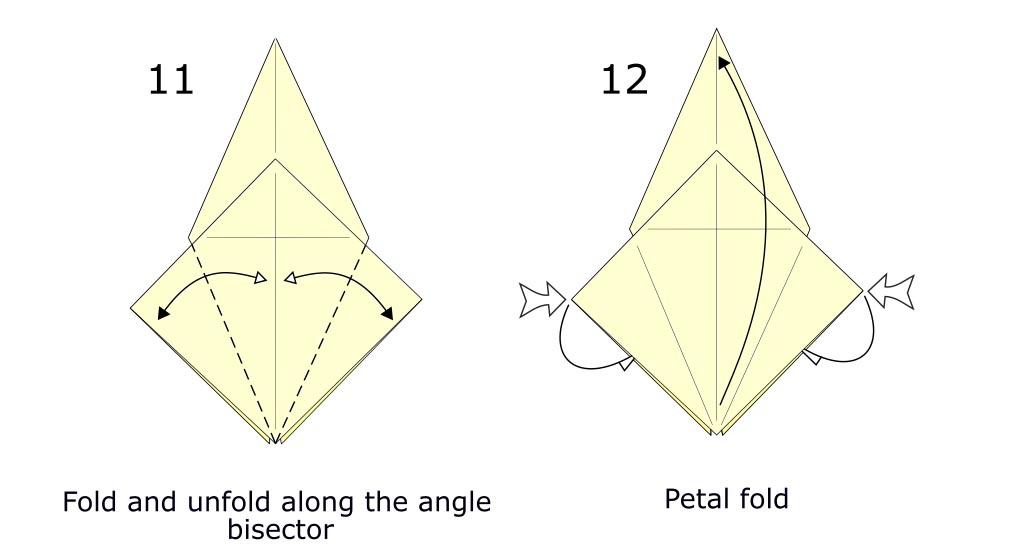 Traditional origami crane diagram (S6)