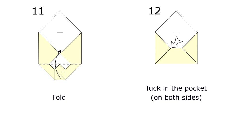 Origami envelope diagram (S6)