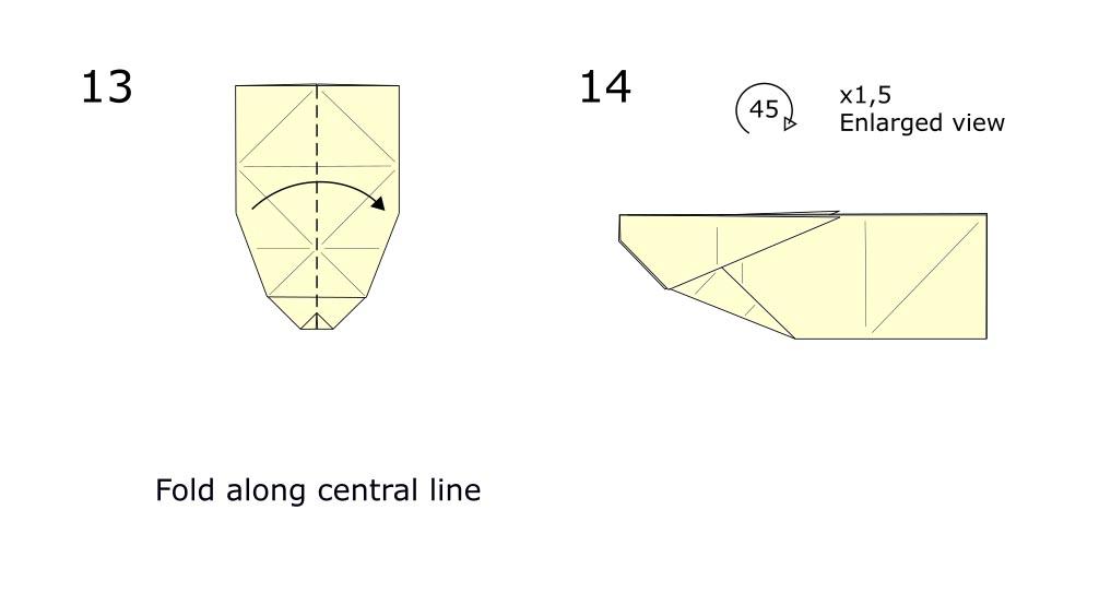 Origami Rabbit diagram (S7)