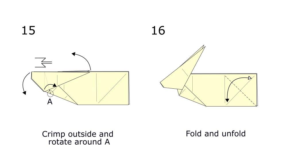 Origami Rabbit diagram (S8)