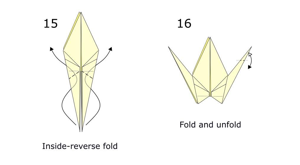 Traditional origami crane diagram (S9)