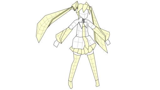Hatsune Miku and colour change