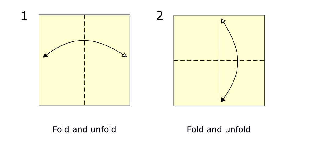 Traditional origami bird (diagram s1)