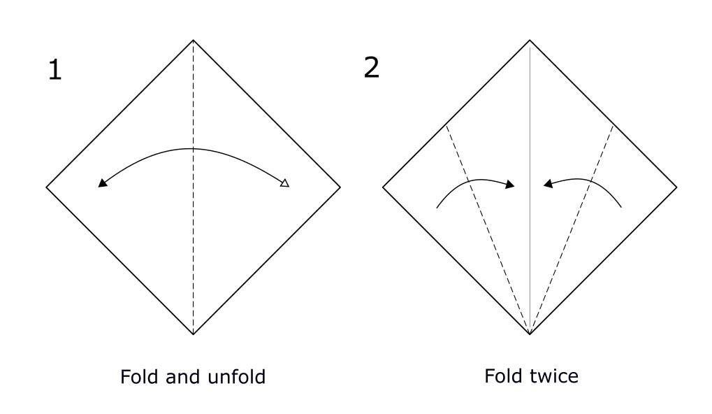 Origami bird (diagram S1)