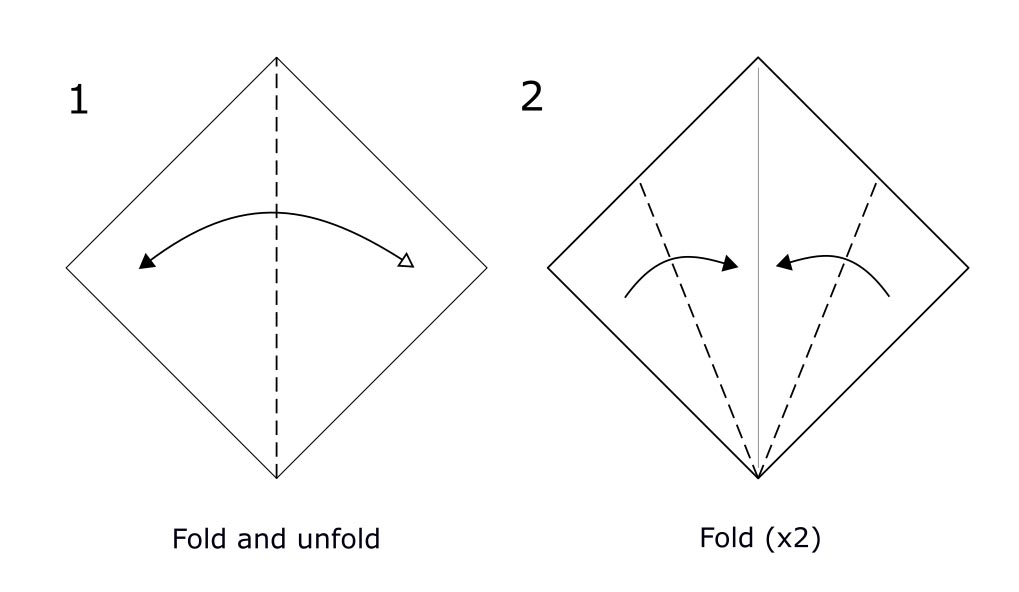 Traditional origami swan (diagram s1)