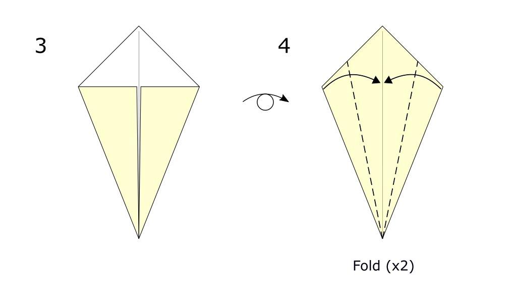 Traditional origami swan (diagram s2)