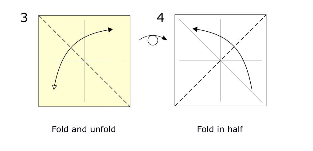Traditional origami bird (diagram s2)