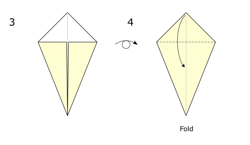 Origami bird (diagram S2)