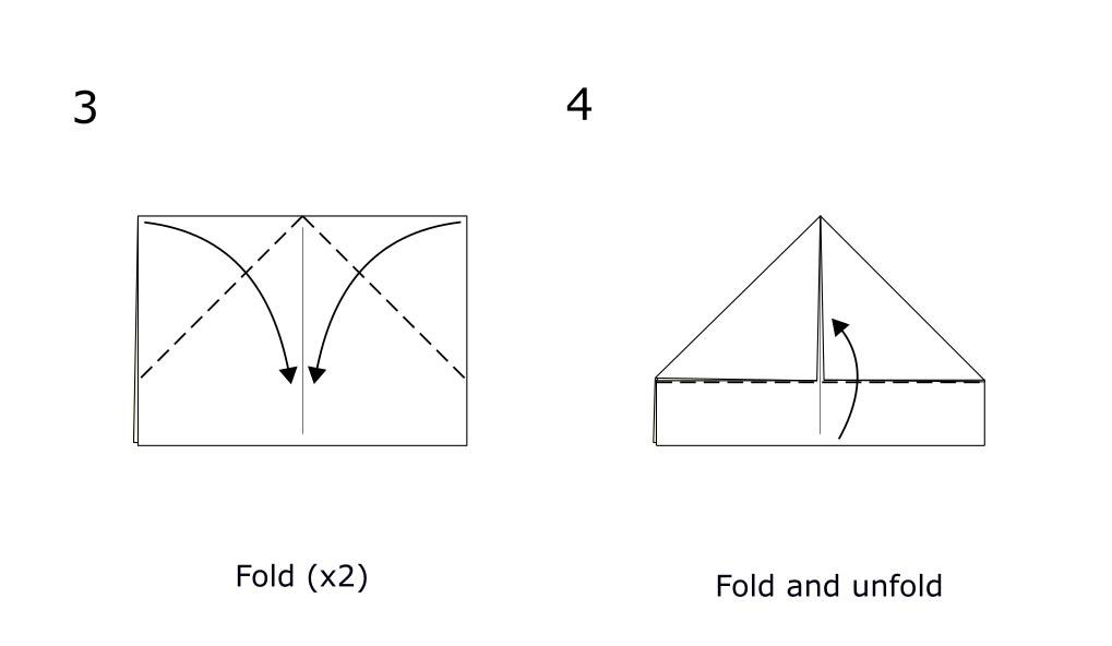 Simple origami boat (diagram S2)