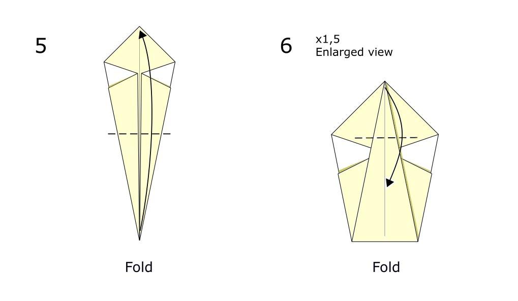 Traditional origami swan (diagram s3)