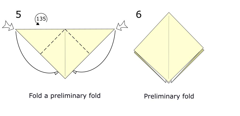 Traditional origami crow (diagram s3)