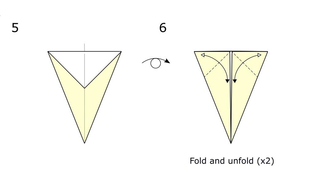 Origami bird (diagram S3)