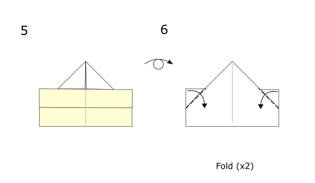 Simple origami boat (diagram S3)