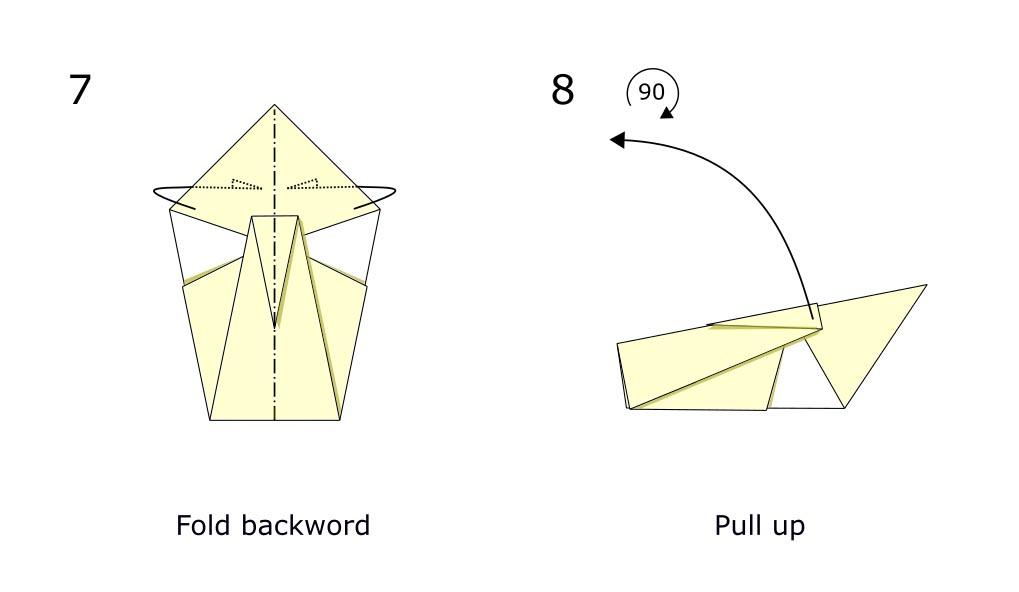 Traditional origami swan (diagram s4)