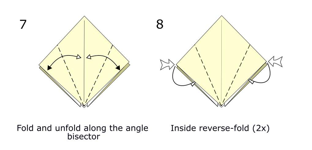 Traditional origami bird (diagram s4)