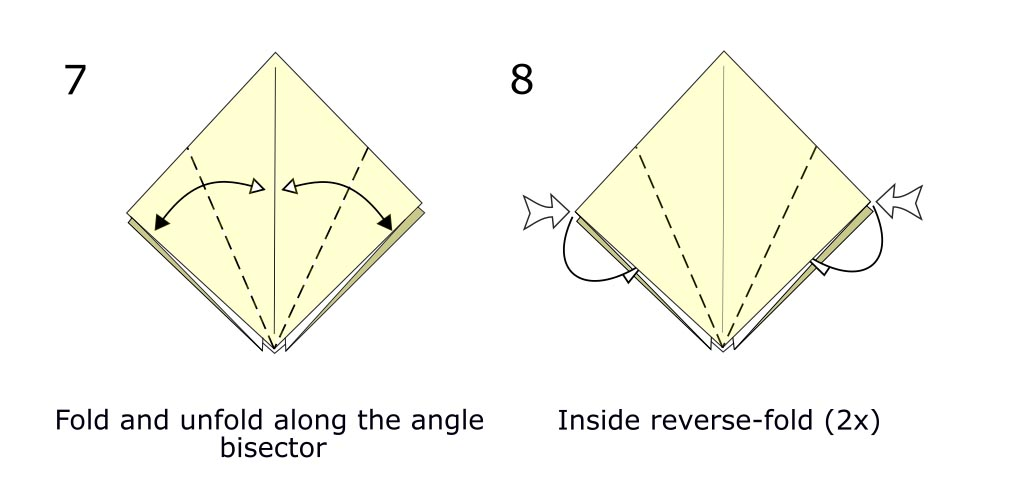 Traditional origami crow (diagram s4)